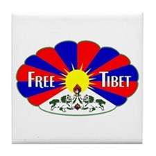 Free Tibet - Human Rights Tile Coaster