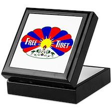Free Tibet - Human Rights Keepsake Box