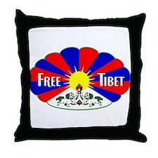 Free Tibet - Human Rights Throw Pillow