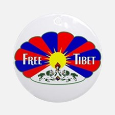 Free Tibet - Human Rights Ornament (Round)