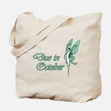 Due October Green W Fairy Tote Bag