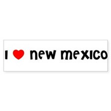 I LOVE NEW MEXICO Bumper Bumper Sticker