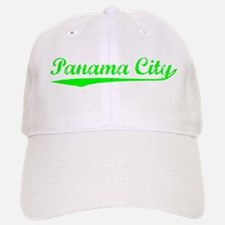 Vintage Panama City (Green) Baseball Baseball Cap