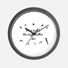 Cute Night stalker Wall Clock