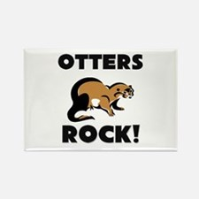 Otters Rock! Rectangle Magnet