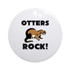 Otters Rock! Ornament (Round)