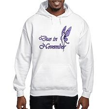 Due November Purple W Fairy Hoodie