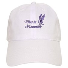 Due November Purple W Fairy Baseball Cap