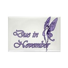 Due November Purple W Fairy Rectangle Magnet