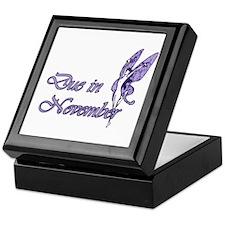 Due November Purple W Fairy Keepsake Box