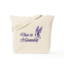 Due November Purple W Fairy Tote Bag