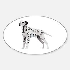 Proud Dalmatian Oval Decal