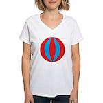 Beach Ball Women's V-Neck T-Shirt
