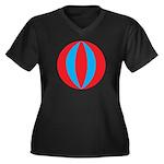 Beach Ball Women's Plus Size V-Neck Dark T-Shirt