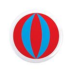 "Beach Ball 3.5"" Button (100 pack)"