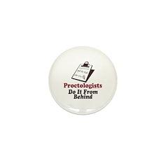 Proctologist Proctology Joke Mini Button (100 pack
