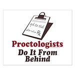 Proctologist Proctology Joke Small Poster