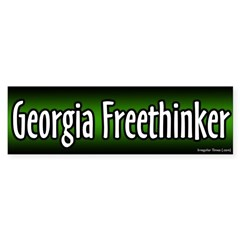 Georgia Freethinker Bumper Bumper Sticker