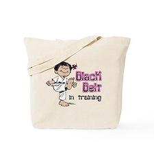 Black Belt in Training (Asian) Tote Bag