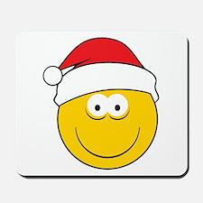 Santa Smiley Face Mousepad