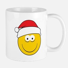 Santa Smiley Face Mug