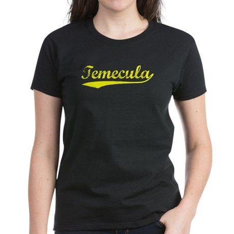 Vintage Temecula (Gold) Women's Dark T-Shirt