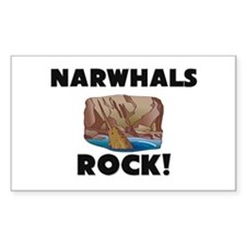Narwhals Rock! Rectangle Decal