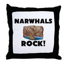 Narwhals Rock! Throw Pillow