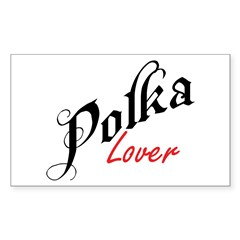 Polka Lover Rectangle Decal