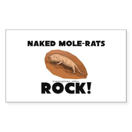 Naked Mole-Rats Rock! Rectangle Sticker
