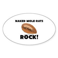 Naked Mole-Rats Rock! Oval Decal