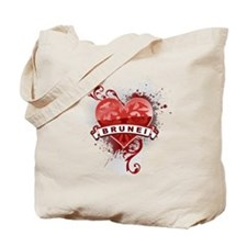 Heart Brunei Tote Bag