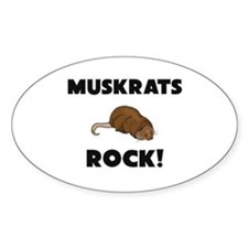 Muskrats Rock! Oval Decal