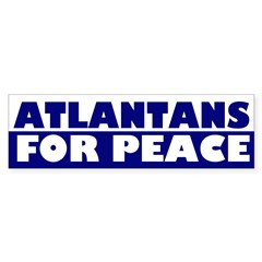 Atlantans for Peace bumper sticker