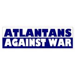 Atlantans Against War bumper sticker