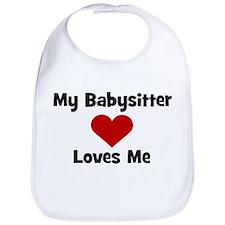 My Babysitter Loves Me! heart Bib