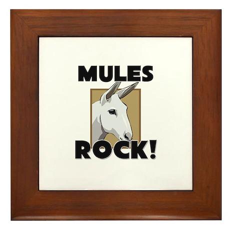 Mules Rock! Framed Tile