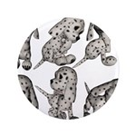 """Dalmation Puppies 3.5"""" Button (100 pack)"""