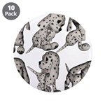 """Dalmation Puppies 3.5"""" Button (10 pack)"""