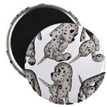 """Dalmation Puppies 2.25"""" Magnet (100 pack)"""