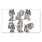 Dalmation Puppies Rectangle Sticker