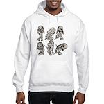 Dalmation Puppies Hooded Sweatshirt