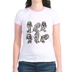 Dalmation Puppies Jr. Ringer T-Shirt