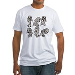 Dalmation Puppies Fitted T-Shirt