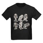 Dalmation Puppies Kids Dark T-Shirt