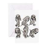 Dalmation Puppies Greeting Cards (Pk of 10)