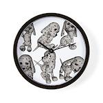 Dalmation Puppies Wall Clock
