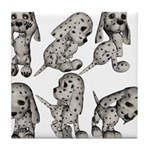 Dalmation Puppies Tile Coaster