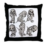 Dalmation Puppies Throw Pillow