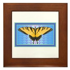 Yellow Tiger Swallowtail Framed Tile